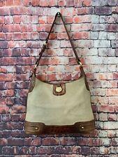 BRAHMIN Woven Croc Leather Satchel Handbag