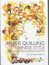 PAPER QUILLING CHINESE STYLE New Hard Cover Pattern Book Inspirational !!!