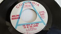 ARLENE HARDEN - When True Love Walks In / Too Much Of A Man NM- PROMO Country
