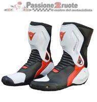 Stivali racing moto Dainese Nexus nero bianco rosso TG 41 black white red boots