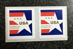 2020USA #5433 10c Star Presorted Standard - Coil Pair Strip 2 Mint