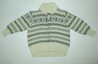 BOYS BABY GAP IVORY BLUE GRAY ZIPPER CARDIGAN SWEATER SIZE 12-18 MONTHS
