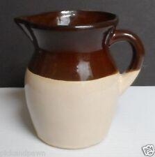 Vintage RRP Robinson Ransbottom Art Pottery Small Pitcher Tan and Brown USA
