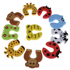 UN3F 10pcs/lot Kid Baby Cartoon Animal Door Stopper Finger Protector Baby Safety