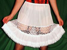 NOSTALGIE Petticoat 1950er Perlon/Nylon HALB-Unterkleid-Unterrock Gr.40 *NEU(349