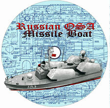 "Model Boat Plans Scale Russian OSA 30""  Radio Control Fires Missile Plan & Notes"