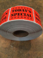 Pecan  LABELS 1000 PER ROLL GREAT STICKERS