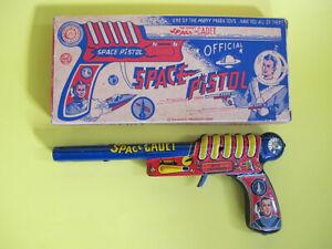 Vintage 50's Marx Tom Corbett Space Cadet Space Pistol Ray Gun With Original Box