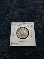 1957 SWITZERLAND 1/2 FRANCS **SILVER ** COIN