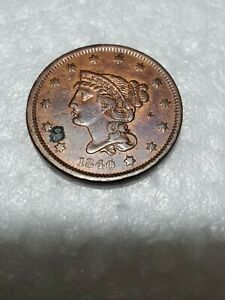 1840  BRAIDED HAIR ONE CENT COIN   CLEAR AND WELL-DEFINED=WORTHY PLS C-PICS