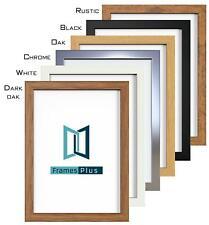 A1 A2 A3 A4 A5 Photo Frame Picture Poster Black White Oak Silver Chrome Rustic