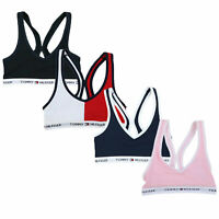 Tommy Hilfiger Womens Bralette Unlined Racerback Lounge Sports Bra Logo New Nwt