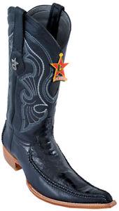 Los Altos Black Braid W / Deer 6X Pointed Toe Cowboy Boots 96TR0505 Size 9EE