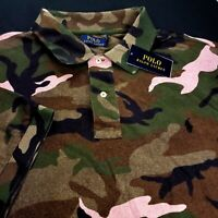 Polo Ralph Lauren Military USA Army Soldiers Camo Camp Shirt Big & Tall 3LT $150
