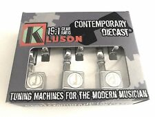 KLUSON CONTEMPORARY KCDF-3805CL 6 INLINE DIECAST TUNERS FOR FENDER RH CHROME