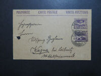 Germany 1920 Upper Silesia Uprated Postal Card / Punchole & Sm Tear - Z10129