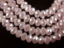 3x4mm Jade Pink AB Faceted Loose Rondelle 5040# Crystal Glass Beads 200pcs