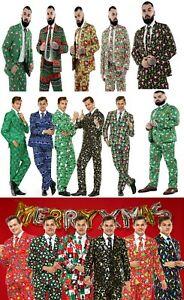 Men Adult Christmas Costumes Xmas Suit Funny Party Suit Santa FairIsle Elf 3 New