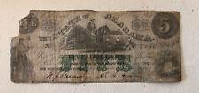 1864 $5 The State of ALABAMA Note - CIVIL WAR