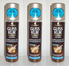 (100ml=1,48€) 3x Gliss Kur MARRAKESH OIL EXPRESS-REPAIR-SPÜLUNG Neu , 3x200ml
