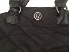 LULULEMON Everywhere Black Duffle Yoga Gym Travel Diaper Bag *flaw