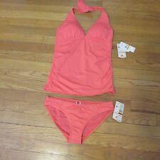 Women's Tommy Bahama tankini coral bathing/swim suit set XS bottom S top NWT 151