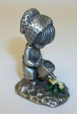 Vintage Betsey Clark Pewter Figurine Girl Watering Flowers