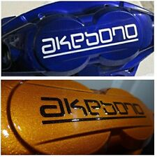 AKEBONO Brake Caliper DECALS HI TEMP! Decal Sticker SET OF 4! Diff Colors!