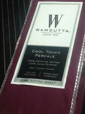 NEW Purple KING Wamsutta Cool Touch Percale Egyptian Cotton 350 TC Fitted Sheet