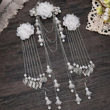Retro Style Chinese Tassel Hair Clip Hair Stick Hairpin And Earrings Jewelry