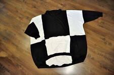 Lagenlook °°  jersey globo grandecuello°negro y blanco°46,48,50,52,54,XXL,XXXL,