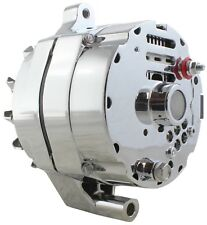 New One-Wire Alternator 140 Amps Chrome 12V Ford 1G Hybrid with GM Style Case!