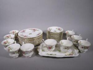 "Royal Albert Porzellan Kaffee-Service ""Moos Rose"" 37 Teile   1M2012"