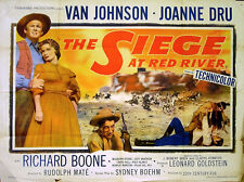 SIEGE AT RED RIVER 1954 Van Johnson, Joanne Dru, Richard Boone UK QUAD POSTER
