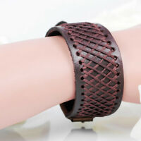 Belt Men Punk Bracelet Bangle Cuff Cool Men Wristband Leather Braided Hemp