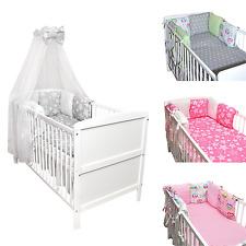 Babybett Kinderbett Juniorbett weiß 140x70 Bettwäsche Bettset komplett 22 tlg.