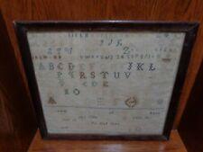 Antique 1832 Bradford County Pennsylvania Needlework Verse Sampler