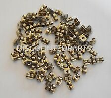 5 PAIRS REPLACEMENT SPARE PLATINUM METAL SCROLL BUTTERFLY EARRING BACK STOPPERS