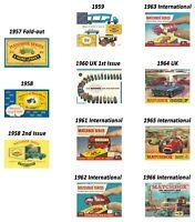 Matchbox Catalogues 1957 1958 1959 1960 1961 1962 1963 1964 1965 1966 DVD Mint