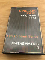 Sinclair ZX 81 Computer Programs 16K Fun to Learn Series Mathematics1 Maths Tape
