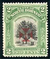 North Borneo 1916 KGV Red Cross 2c green (p14½-15) MLH. SG 203b.