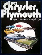 Prospekt brochure 1972 Chrysler Plymouth * Barracuda * Duster * Satellite (USA)