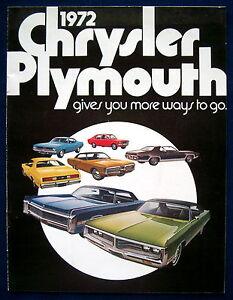 Prospekt brochure 1972 Chrysler Plymouth  Barracuda  Duster  Satellite (USA)