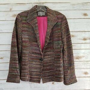 Emil Rutenberg Womens Size S Vintage Blazer One Button 100% Silk Tweed
