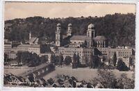 Ansichtskarte Passau - Blick auf die Altstadt mit Dom St. Stephan und Inn - s/w
