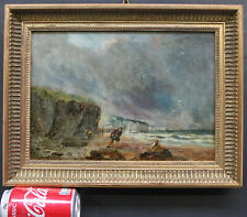 Impressionist Painting Dover Beach Scene Surrey Edward Williams RA Antique 1820s