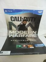Call Of Duty Modern Warfare 2019 GameStop Promo Poster Double Sided PS4 LARGE