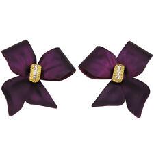 RUCINNI Purple Ribbon Earrings