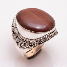 925 Sterling Silver Ring Size US 10, Natural Jasper Handcrafted Jewelry R3133