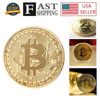 Gold Bitcoin Commemorative Collectors Coin Christmas Gift Nice Detail good luck